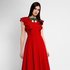 Платье женское Pintel™ Приталенное платье с воланами  Risa