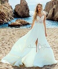 Свадебное платье напрокат А-силуэт Anna Sposa Платье свадебное «Fernanda» из коллекции SEA DIAMOND 2017