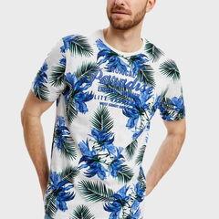 Кофта, рубашка, футболка мужская O'stin Футболка с растительным принтом MT1S84-00