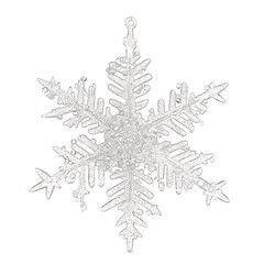 Елка и украшение mb déco Елочная игрушка «Снежинка» на подвесе