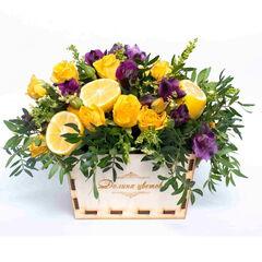 Магазин цветов Долина цветов Цветочная композиция «Теплая встреча»
