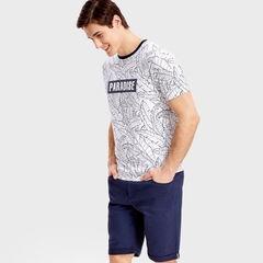 Кофта, рубашка, футболка мужская O'stin Футболка с тропическим принтом MT4SB6-00
