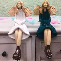 Подарок Прекрасная садовница Декоративная фигурка «Ангел» (керамика)