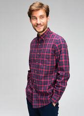 Кофта, рубашка, футболка мужская O'stin Рубашка в клетку Oxford Vichy MS4V44-X8