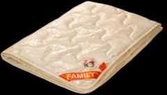 Подарок Голдтекс Элитное мериносовое одеяло в жаккардовом сатине «Фемели» 1066