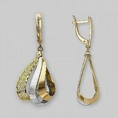Ювелирный салон Платина Серьги золотые 02-3645-00-000-1140-48