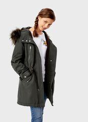 Верхняя одежда женская O'stin Парка из хлопка с меховой отделкой LJ6T55-36