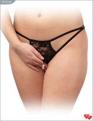 Интим-магазин Vanilla Paradise Стринги женские с доступом кружевные, чёрные VPSTG130