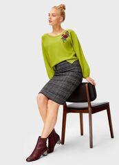 Кофта, блузка, футболка женская O'stin Джемпер с патчем LK1T73-G2