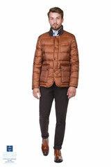 Верхняя одежда мужская HISTORIA Куртка утепленная (пух) ярко-коричневая