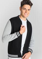 Верхняя одежда мужская O'stin Бомбер c контрастными рукавами MT4W37-99