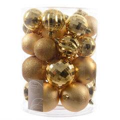 Елка и украшение mb déco Елочные игрушки «Шары гладкие» светлое золото