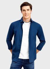 Кофта, рубашка, футболка мужская O'stin Рубашка из однотонного поплина MS6T31-68
