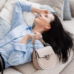 Магазин сумок Vezze Кожаная женская сумка C00459