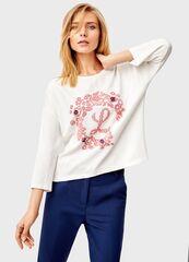 Кофта, блузка, футболка женская O'stin Толстовка с цветочным принтом LT1T43-00