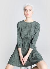 Платье женское O'stin Принтованное вискозное платье LR5W61-G7