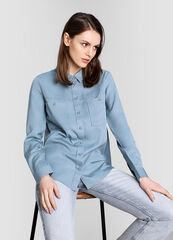 Кофта, блузка, футболка женская O'stin Рубашка из тенселя LS1W61-P5