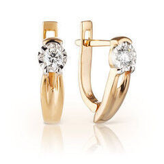Ювелирный салон Jeweller Karat Серьги золотые с бриллиантами арт. 3224643/9