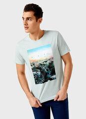 Кофта, рубашка, футболка мужская O'stin Футболка мужская  с фотопринтом MT4V34-41