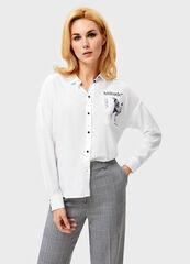 Кофта, блузка, футболка женская O'stin Блузка с принтованным карманом LS1V52-00