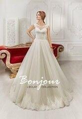 Свадебное платье напрокат А-силуэт Bonjour Платье свадебное «Selena» из коллекции L'ECLAT 2016