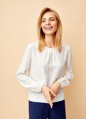 Кофта, блузка, футболка женская O'stin Блузка с жемчугом LS1T43-00