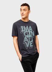 Кофта, рубашка, футболка мужская O'stin Футболка с текстовым принтом мужская MT4U12-95