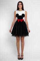 Платье женское Pintel™ Комбинированное платье из хлопка и бархата Fania