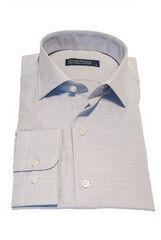 Кофта, рубашка, футболка мужская HISTORIA Рубашка белая с голубой фактурой