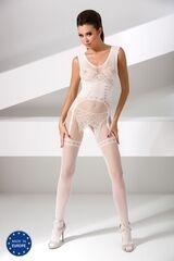 Интим-магазин Passion Изысканный боди-комбинезон белого цвета BS052-w