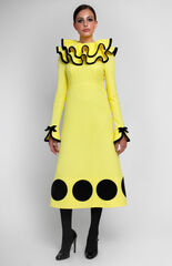 Платье женское Pintel™ Платье из фактурного жёлтого хлопка Anamika