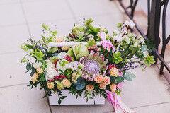 Магазин цветов Cvetok.by Цветочная корзина «Сладкие грезы»