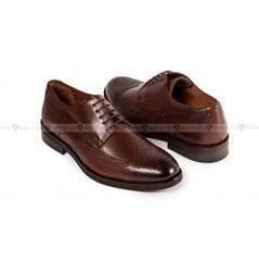 Обувь мужская Keyman Туфли мужские полуброги коричневые