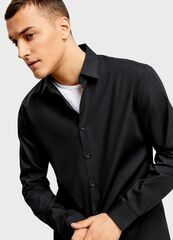 Кофта, рубашка, футболка мужская O'stin Рубашка из однотонного поплина  мужская MS6U11-99