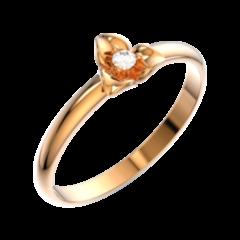 Ювелирный салон ZORKA Кольцо золотое 210493-CR