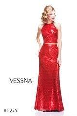 Вечернее платье Vessna Топ с пайетками и Длинная юбка с пайетками арт.1255 из коллекции VESSNA NEW