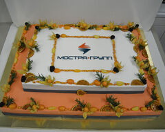 Торт DOLCE Корпоративный торт «Мостра Групп»