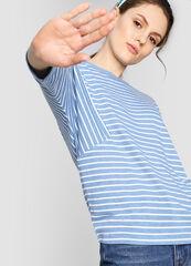 Кофта, блузка, футболка женская O'stin Джемпер из джерси в полоску LT1W66-66
