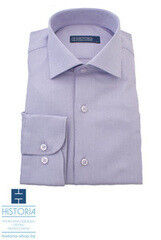 """Кофта, рубашка, футболка мужская HISTORIA Рубашка сине-голубая с плетением """"куриная лапка"""""""