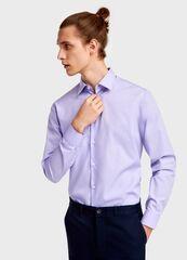 Кофта, рубашка, футболка мужская O'stin Рубашка из однотонного поплина MS6U11-V2