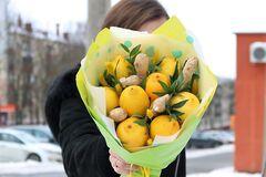 Магазин цветов VGosti.by Букет из лимона и имбиря Чайный