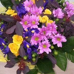 Магазин цветов Прекрасная садовница Букет из кустовой розы и хризантемы