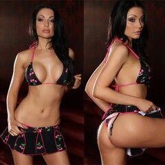 Интим-магазин Extaz Вишневое бикини с юбочкой Cherry Taste