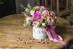 Магазин цветов Цветы на Киселева Букет в коробке «Милый»