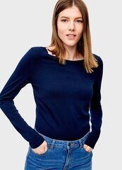 Кофта, блузка, футболка женская O'stin Футболка из хлопка с длинными рукавами LT6T52-68