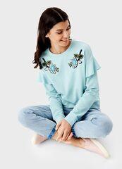 Кофта, блузка, футболка женская O'stin Толстовка с рюшами LT1T32-43