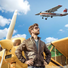 Магазин подарочных сертификатов NAVZLET Обзорный полет на самолете одиночный, 60 минут