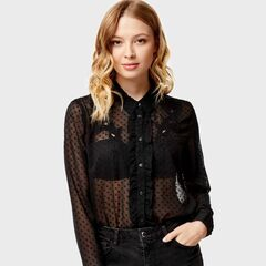 Кофта, блузка, футболка женская O'stin Блузка из жаккардового шифона LS1U33-99