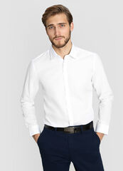 Кофта, рубашка, футболка мужская O'stin Базовая рубашка из поплина MS6W11-00