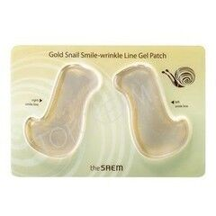 Уход за лицом The Saem Патчи Gold Snail Smile-Wrinkle Line Gel Patch